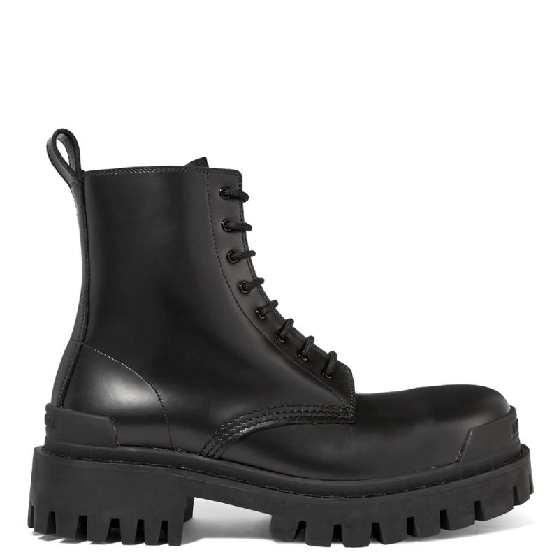 Фото Balenciaga Strike Leather Ankle Boots