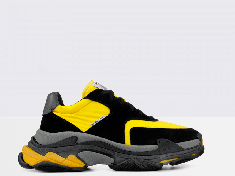 Фото Balenciaga Triple S Black/Yellow