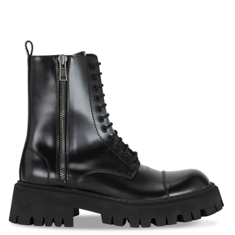 Фото Balenciaga Black Tractor Side-zip Boots Patent