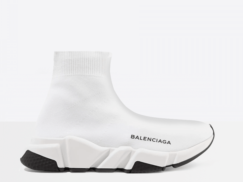 Фото Balenciaga Speed Trainers White / Black sole