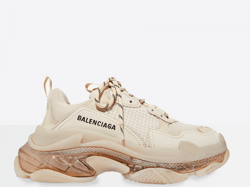 Фото Balenciaga Triple S Clear Sole White