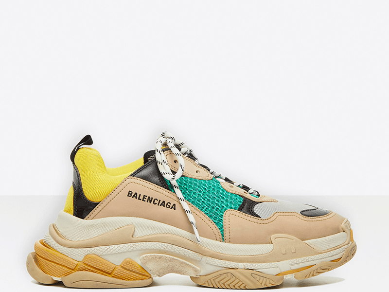 Фото Balenciaga Triple S Beige/Yellow/Green