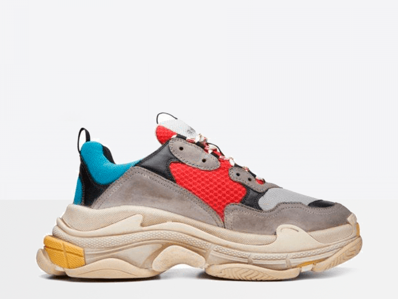 Фото Balenciaga Triple S Grey/Red/Blue/Beige
