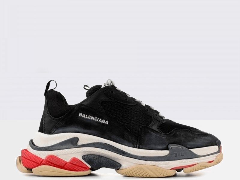 Фото Balenciaga Triple S Black/Red