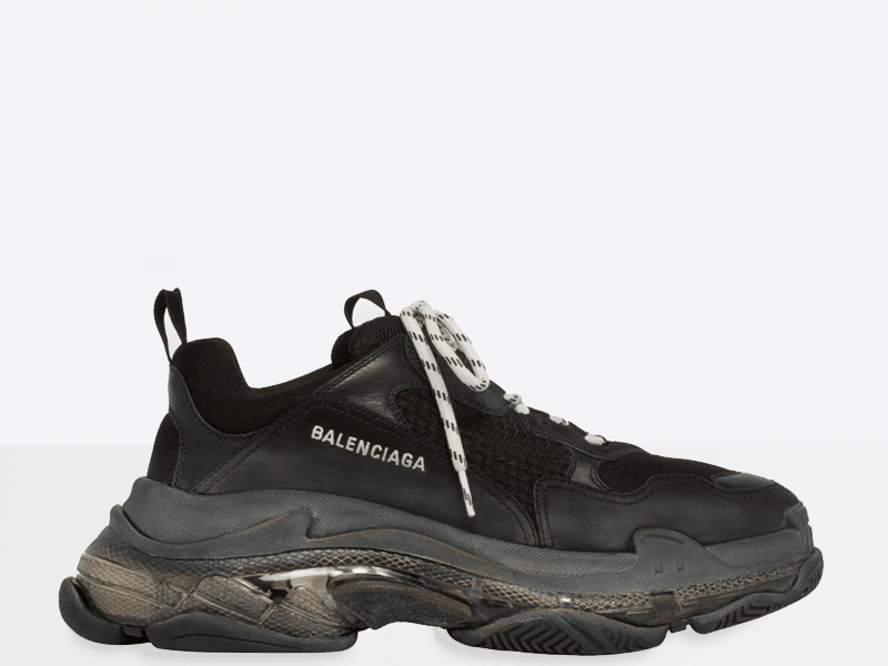 Фото Balenciaga Triple S Clear Sole Black