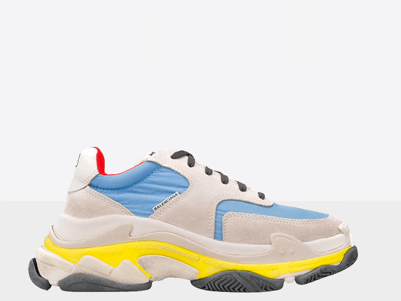 Фото Balenciaga Triple S 2.0 Blue/Yellow/Grey