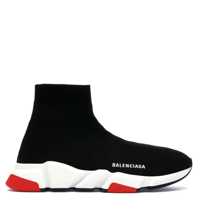 Фото Balenciaga Speed Trainer Black White/Red Sole