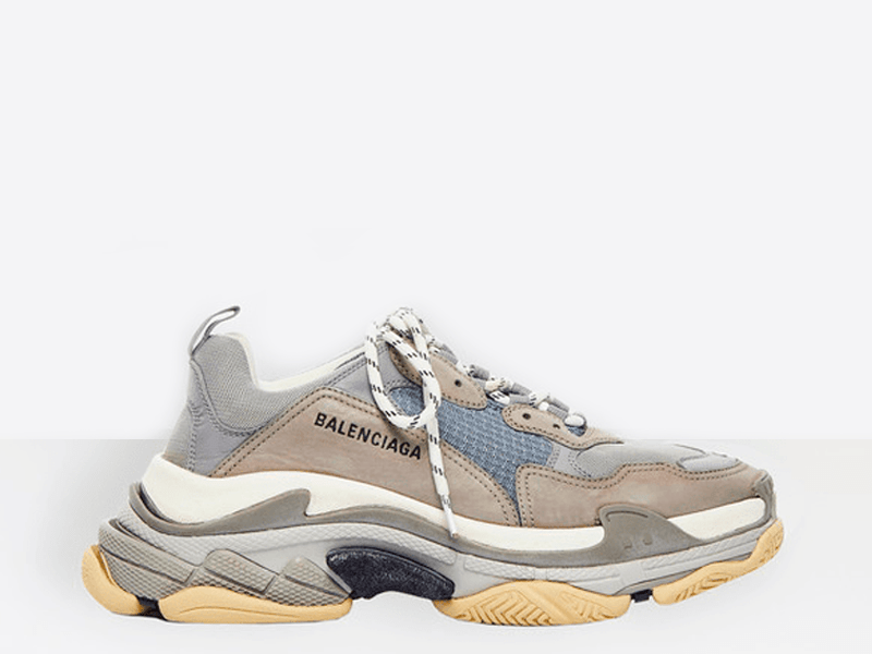 Фото Balenciaga Triple S Grey/Royal