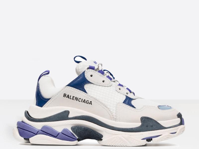 Фото Balenciaga Triple S White/Violet