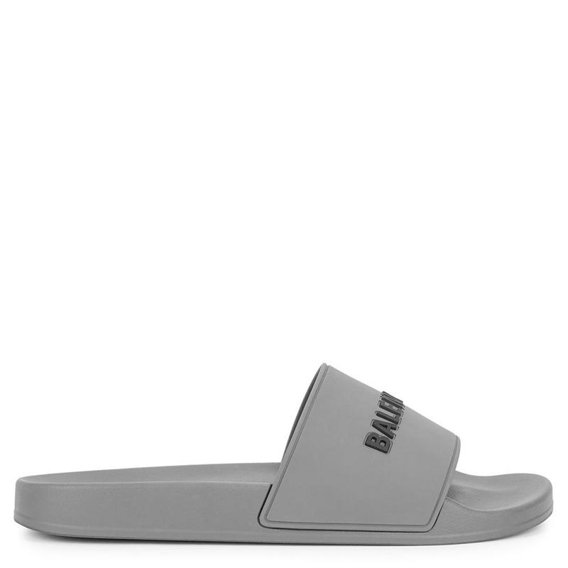 Фото Balenciaga Logo Slides Gray