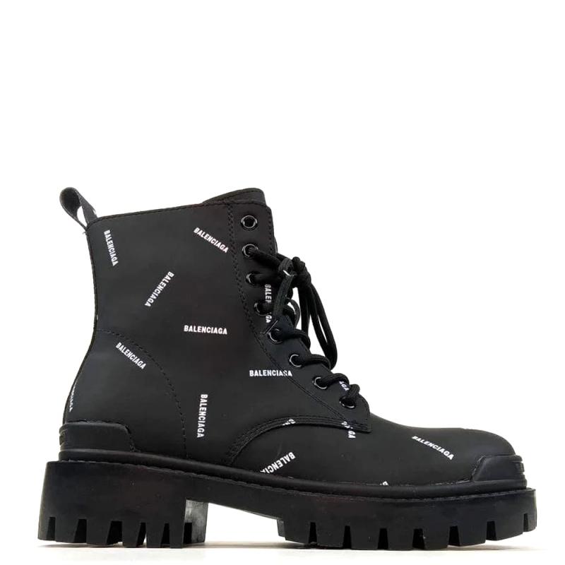 Фото Balenciaga Multilogo Boots Black