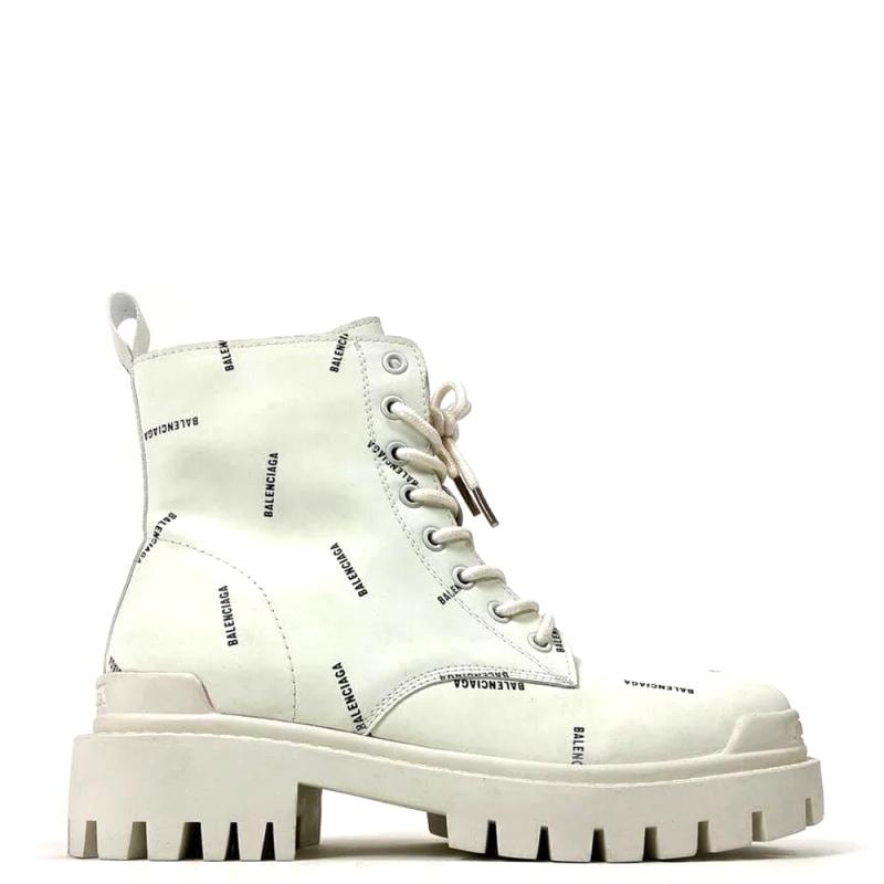 Фото Balenciaga Multilogo Boots White