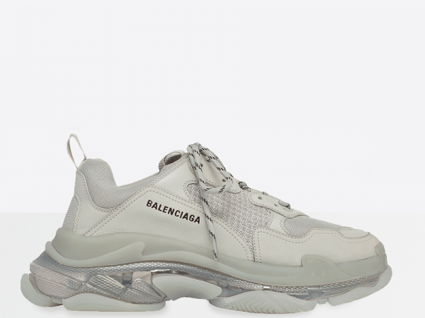 Balenciaga Triple S Clear Sole White/Grey