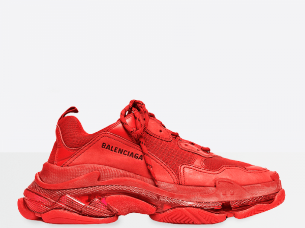 Balenciaga Triple S Clear Sole Red