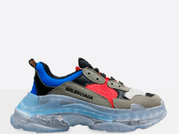 Balenciaga Triple S Clear Sole Blue/Grey/Red